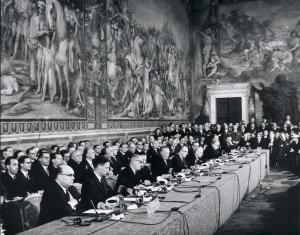 Signature des traités CEE et CEEA (Rome, 25 mars 1957)