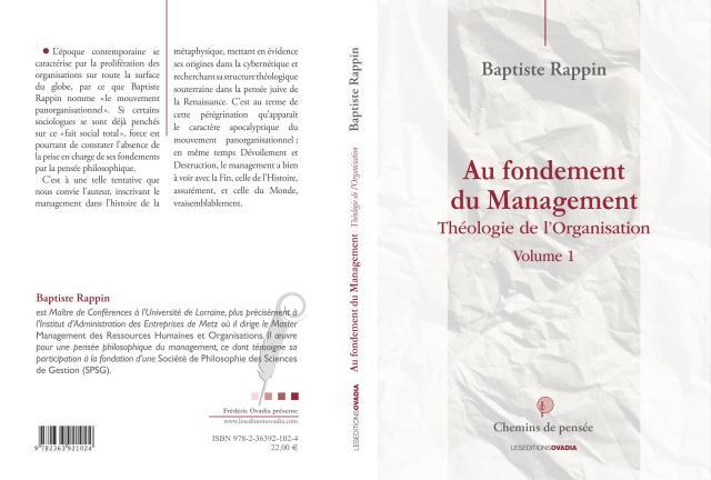 rappin_baptiste_Couverture_Au_fondement_du_Management_01